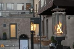 Gasfackla Venturi på Hotell Skansen i Båstad